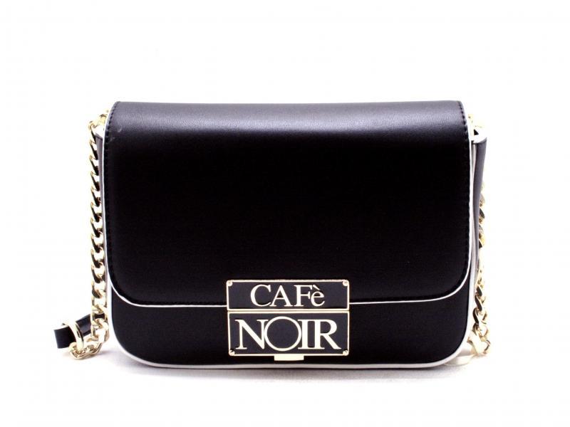 BCZ452 NERO borsa donna Cafenoir bancoliera accessorio chiusura smaltato