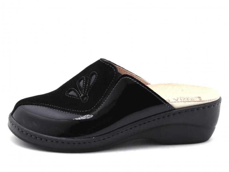IAEH33-CV003 NERO Scarpa donna Cinzia Soft pantofola plantare estraibile pelle made in Italy