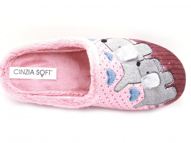 IEBZ20446002 SALMON Scarpa donna ciabatta Cinzia Soft pantofola made in Italy rosa