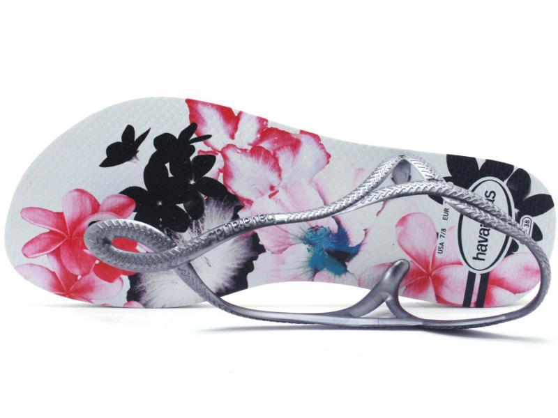Luna Print Bianco Sandalo Infradito Scarpa Fantasia Havaianas Donna n0wkOP