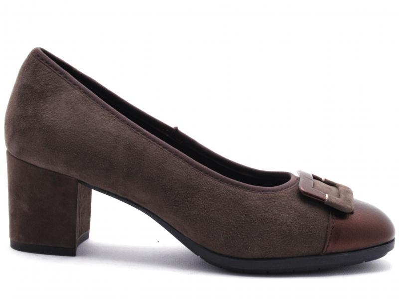 IV11795-DSE002 BROMIN Scarpa donna tacco Cinzia Soft decollete pelle marrone