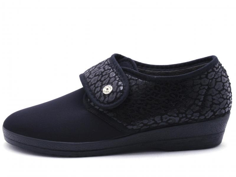 IEB411581M001 NERO Scarpa donna Cinzia Soft pantofola tessuto elasticizzato made in Italy