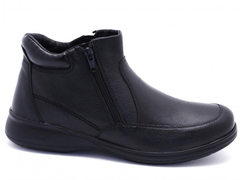 IV3072-NS001 BLACK Scarpa uomo PRG MAN polacchino pelle con lampo comodone pelle nero
