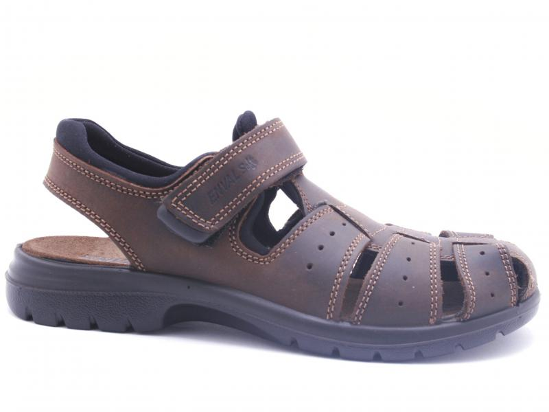 3247511 TESTA MORO Scarpa uomo Enval Soft sandalo pelle ragnetto made in Italy
