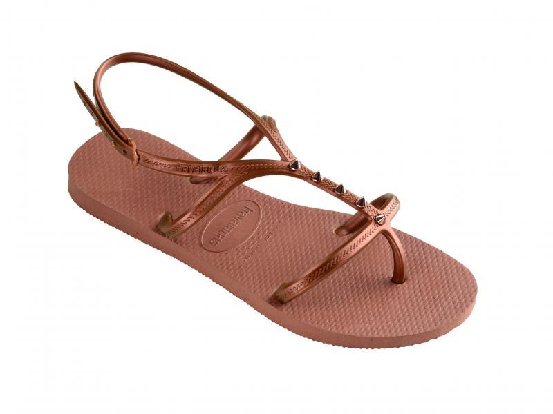 ALLURE MAXI BRONZO Scarpa donna Havaianas sandalo infradito con borchie