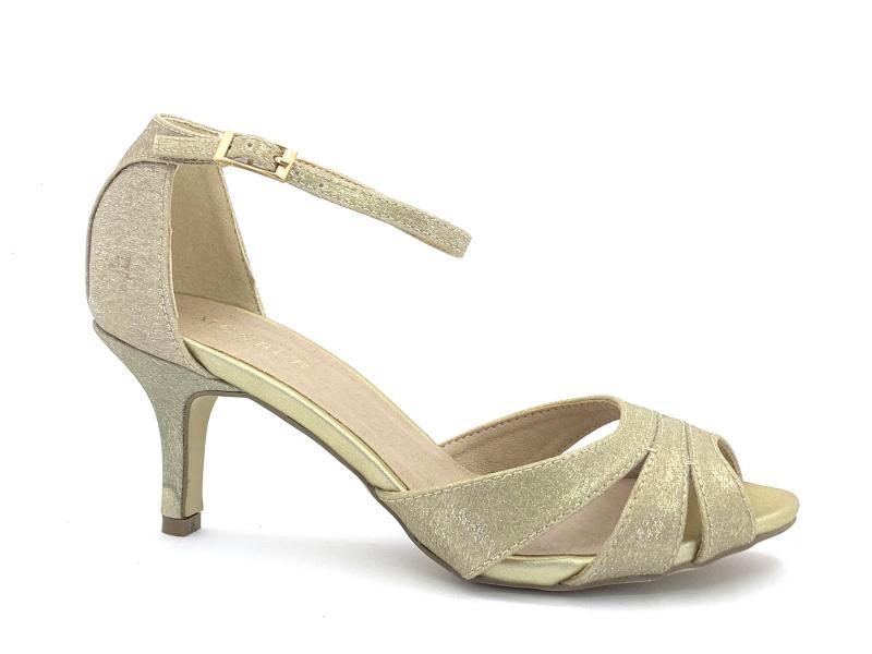 2031300 PLATINO Scarpa donna sandalo elegante Menbur tacco tallone chiuso cinturino caviglia