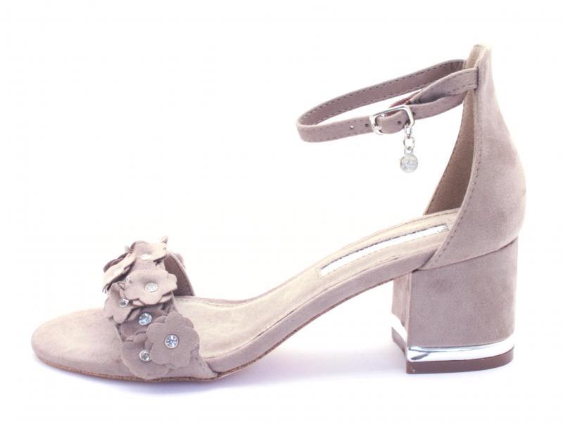 32032 TAUPE Scarpa donna Xti Tentations sandalo tacco 5 cinturino caviglia