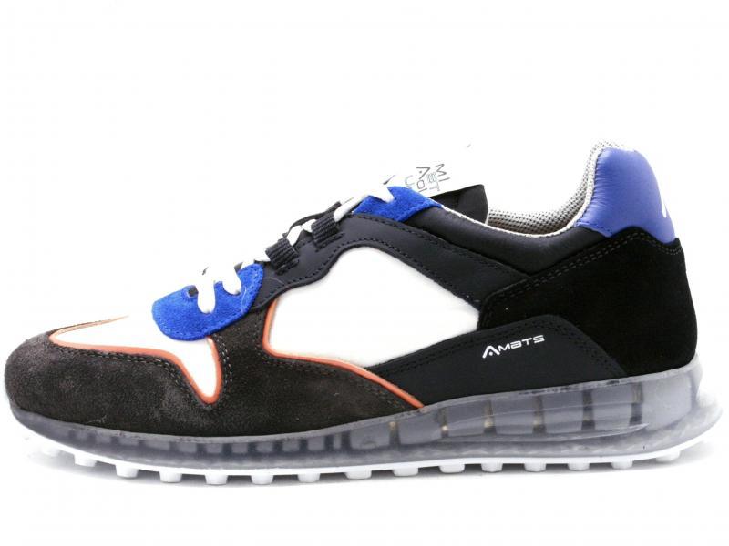 LAPONIA 10474  MULTICOLOR Scarpa uomo Ambitiou sneaker running pelle tessuto