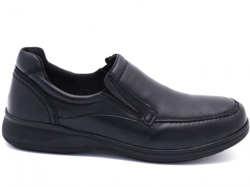 IV570-SW001 BLACK Scarpa uomo PRG MAN slip-on comodone pelle nero