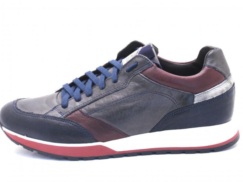 PD431 MULTIBLU Scarpa uomo Cafenoir sneaker running allacciata