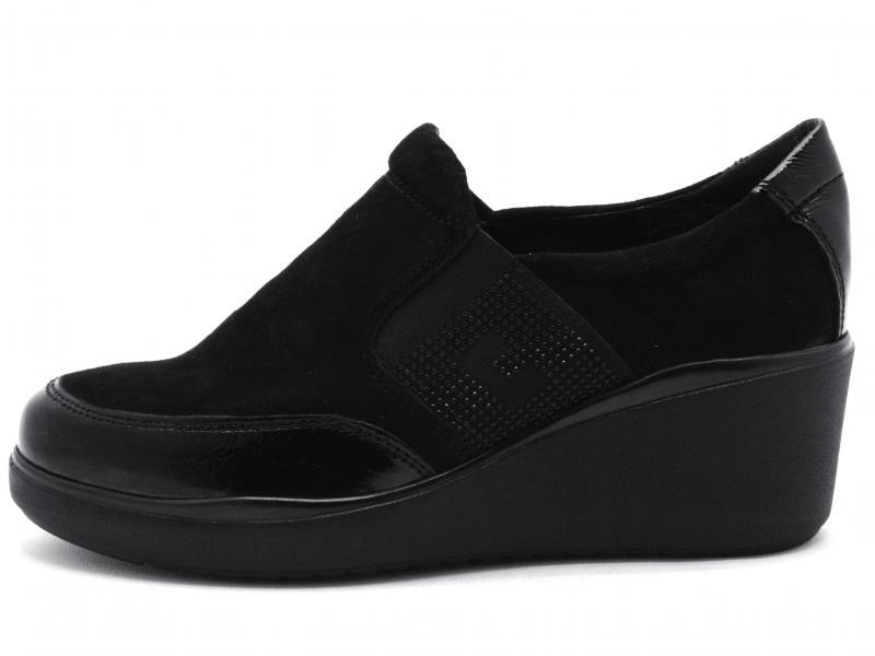 IV11808-PKS001 NERO Scarpa donna Cinzia Soft zeppa sneaker slip-on nero