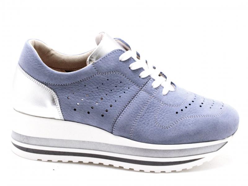 IAB1A3386NBT001 ARGENTO Scarpa donna Cinzia Soft sneaker pelle platform jeans