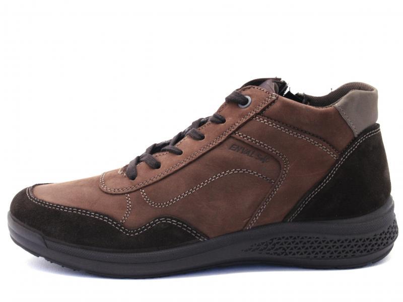 4229755 T.MORO Scarpa uomo Enval Soft sneaker polacchino pelle made in Italy marrone