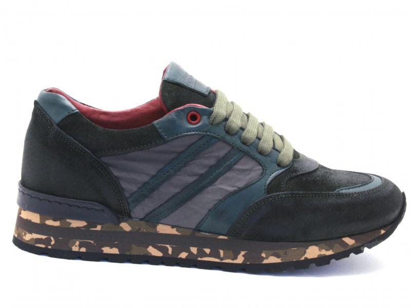 55 ANTICATO BOSCO Scarpa uomo Exton sneaker running pelle e tessuto made in Italy