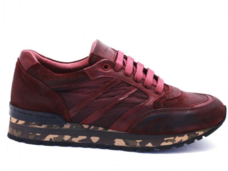 55 ANTICATO BAROLO Scarpa uomo Exton sneaker running pelle tessuto made in Italy