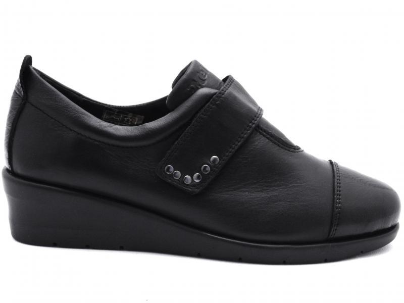 K55203 NERO Scarpa donna Melluso sneaker pelle zeppa velcro made in Italy