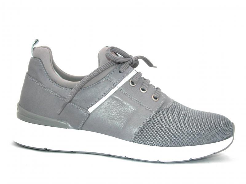 00930 GRIGIO  Scarpa uomo sneaker Nero Giardini  pelle e tessuto made in Italy