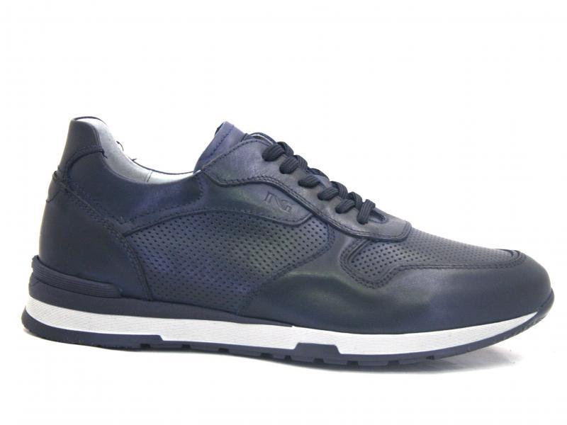00800 BLU Scarpa uomo sneaker Nero Giardini  pelle made in Italy