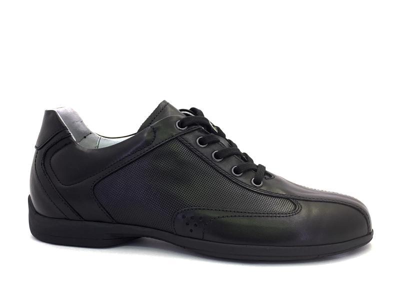 00780 NERO Scarpa uomo Nero Giardini sneakers allacciata pelle made in Italy