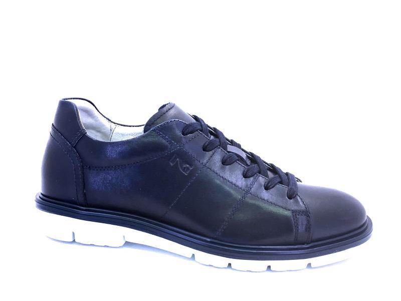 00901 BLU Scarpa uomo sneaker Nero Giardini  allacciata pelle made n Italy