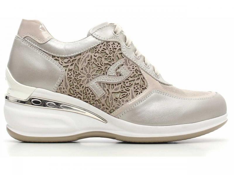 15060 SAVANA Scarpa donna sneaker con zeppa Nero Giardini pelle camoscio  savana 9715f40345f