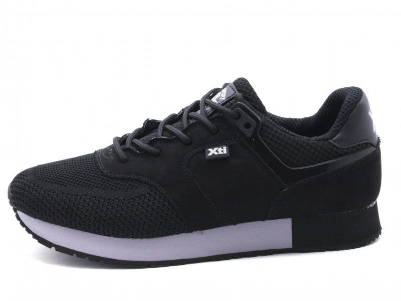 49199 NEGRO Scarpa uomo Xti sneaker running tessuto nero