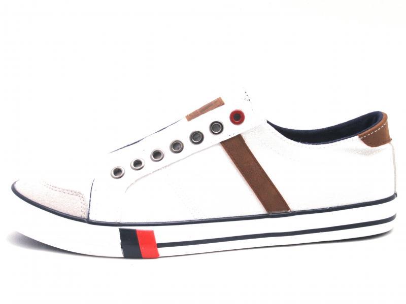 43995 BLANCO Scarpa uomo Xti The Red Touch sneaker tessuto bianco plantare memory