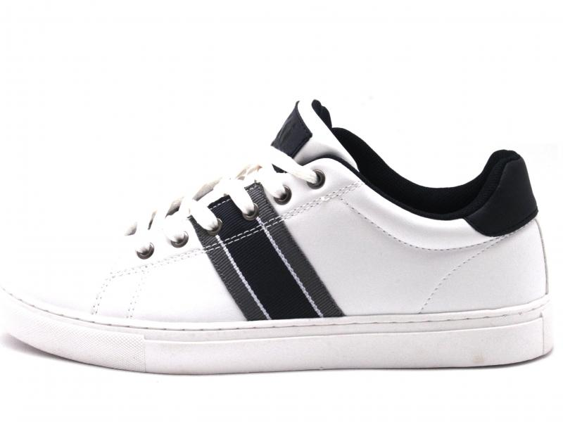 49652 BLANCO Scarpa uomo Xti The Red Touch sneaker bianco plantare memory