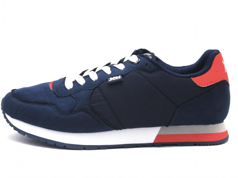 49660 NAVY Scarpa uomo Xti The Red Touch sneaker running blu plantare memory