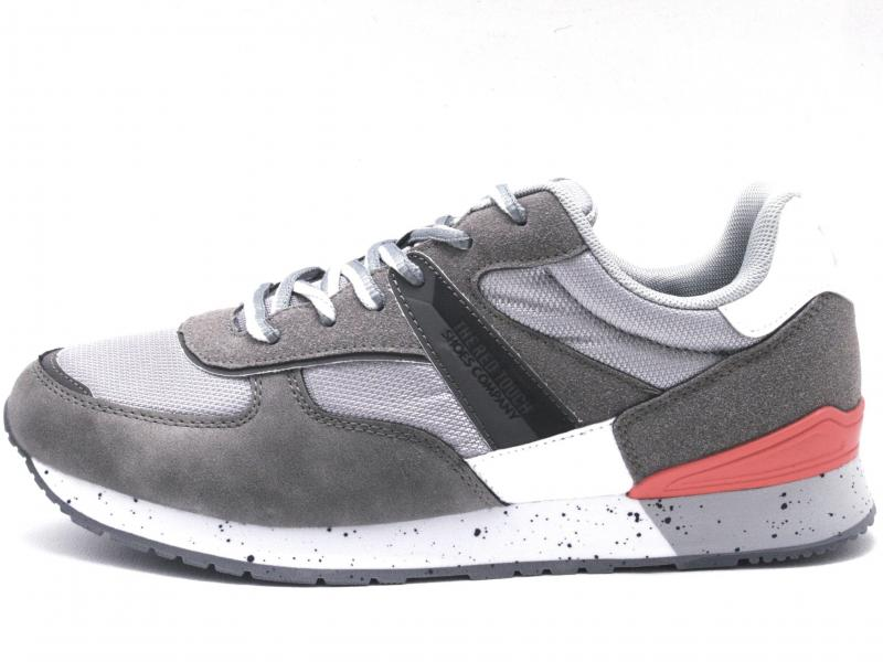 49661 GRIS Scarpa uomo Xti The Red Touch  sneaker running grigio plantare memory