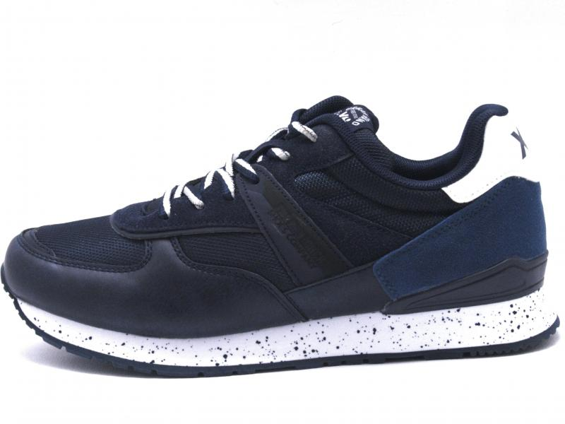 49661 NAVY Scarpa uomo Xti The Red Touch sneaker running blu plantare memory