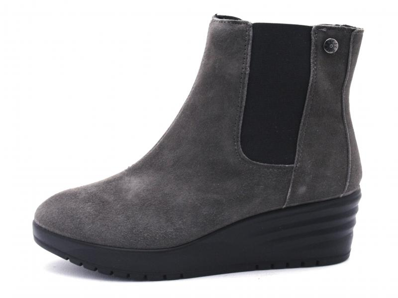 4266844 CARBONE Scarpa donna Enval soft tronchetto zeppa pelle made in Italy