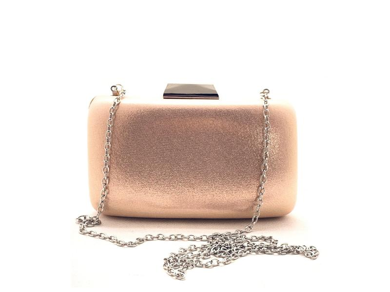 8472238 Borsa donna Menbur bustina elegante guscio chiusura sclocco rosa laminato