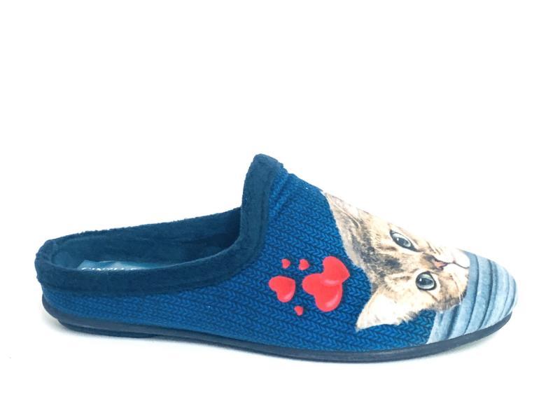 ED11107 001 MARINO Scarpa donna Cinzia Soft ciabatta pantofola plantare estraibile blu