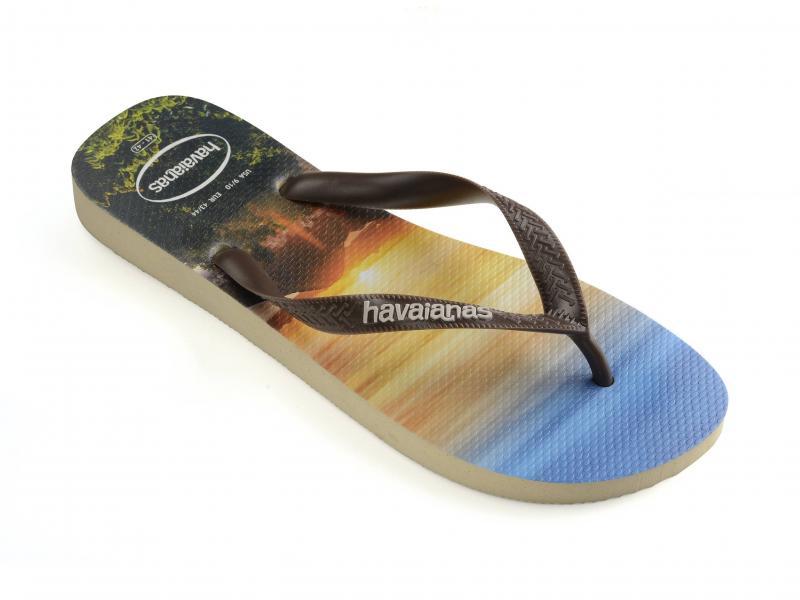 HYPESAND GREY Scarpa uomo Havaianas ciabatta infradito fantasia surf fascetta marrone