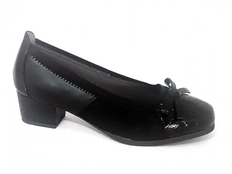 044932 NEGRO Scarpa donna Comfort by Xti ballerina decollete tacco basso nero