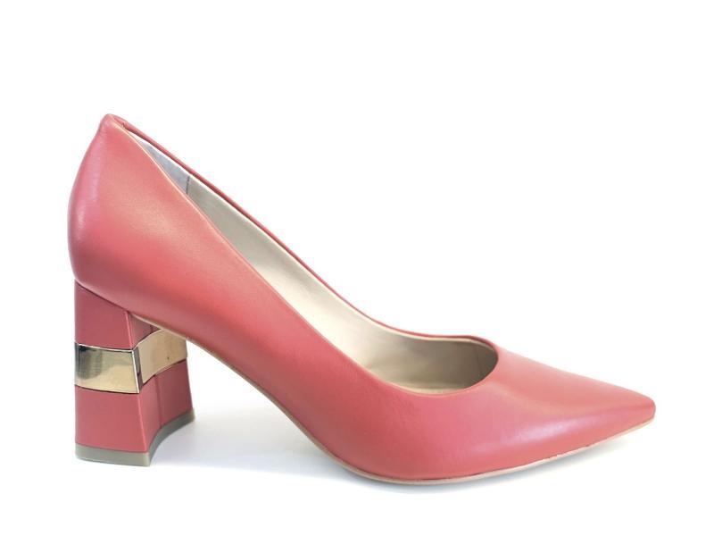 FL7MVE RED Scarpa donna tacco Guess decollete pelle mattone plantare gel