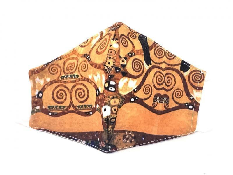 MASCHERINA ALBERO DELLA VITA Mascherina lavabile con filtro Forsei quadri dautore Klimt