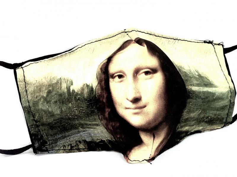 MASCHERINA GIOCONDA Mascherina lavabile con filtro Forsei quadri dautore Leonardo Da Vinci