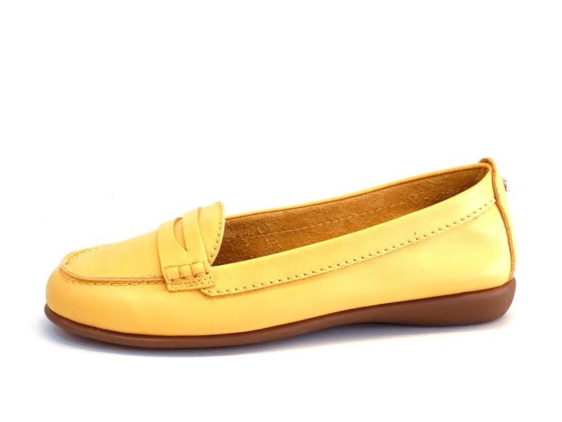 F1085.02 YELLOW Scarpa donna The Flexx mocassino plantare memory pelle giallo