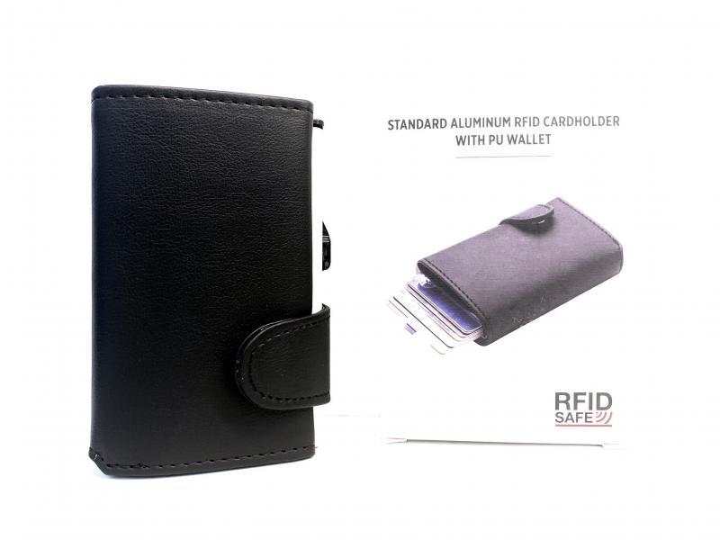 850341 NERO Portafogli portacarte Maiuguali standard alluminum rfid XD Design