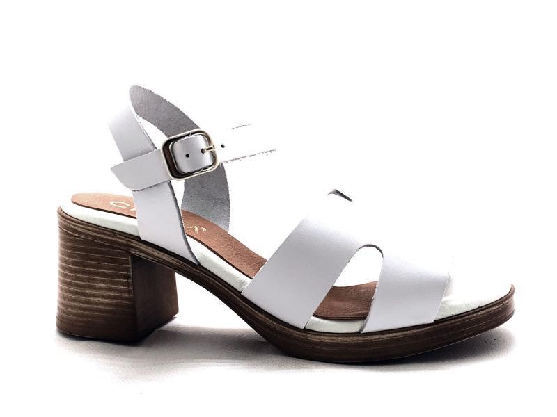 IEL869115T001 BLANCO Scarpa donna tacco Cinzia Soft sandalo pelle plantare gel bianco