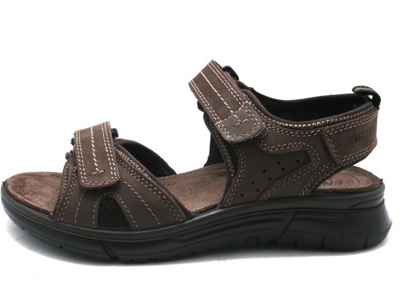 5242911 MARRONE Scarpe uomo Enval Soft sandalo con strappo pelle fondo morbido