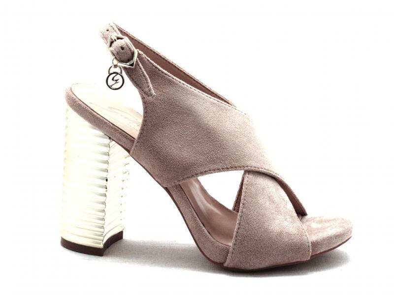 PENAR0980 NUDE Scarpa donna Gattinoni sandalo incrocio tacco oro