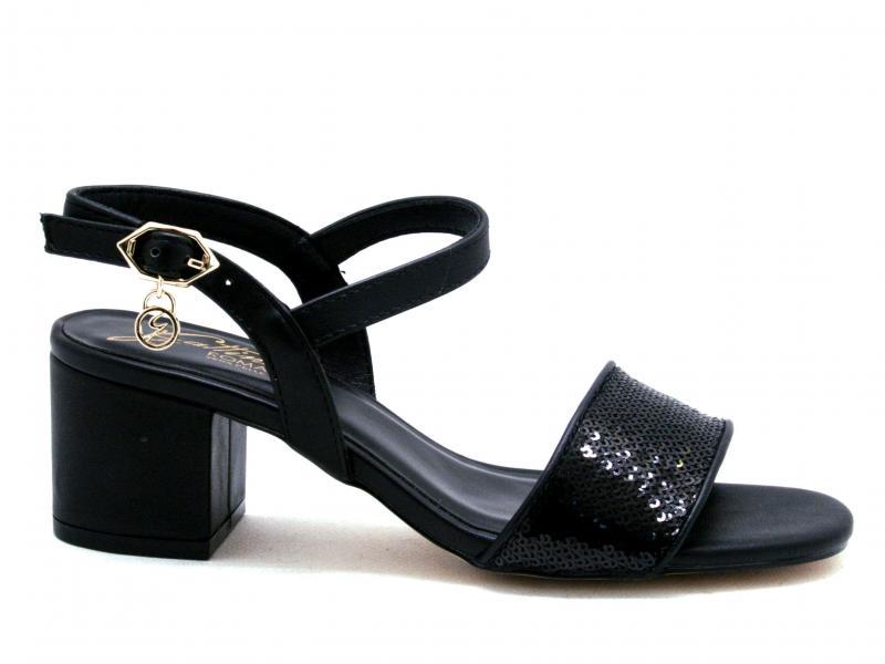 PENCL0976 BLACK Scarpa donna Gattinoni sandalo tacco largo nero