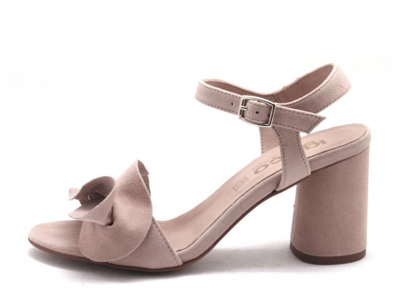 5192522 PHARD Scarpa donna Igi&Co sandalo pelle tacco fascia made in Italy nudo