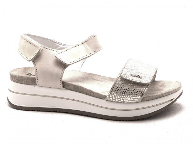 5174433 ORO CHIARO  Scarpa donna Igi&Co sandalo fascia strappo made in Italy