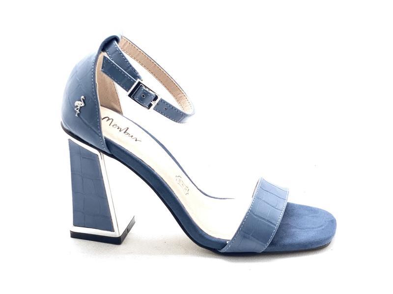 2244596 BLU Scarpa donna tacco Menbur cinturino caviglia