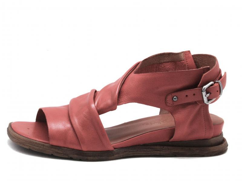 T0301 CORAL Scarpa donna Rebecca White sandalo zeppa bassa pelle