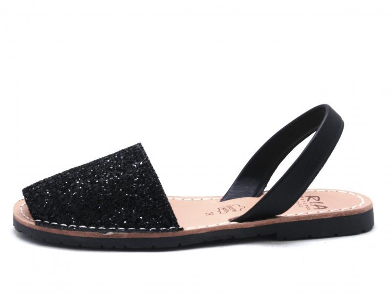 21224-S2 GLITTER NEGRO Scarpa donna Ria Menorca  sandalo glitter pelle nero